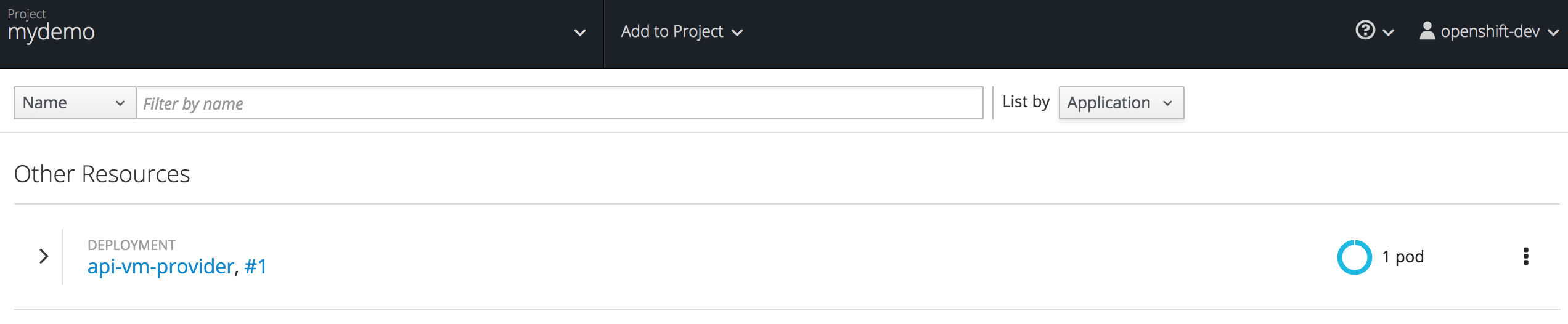 Openshift Project